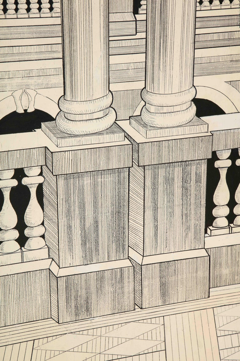 Painted Italian Interior Wood Screen 4