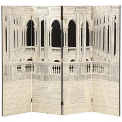 Painted Italian Interior Wood Screen