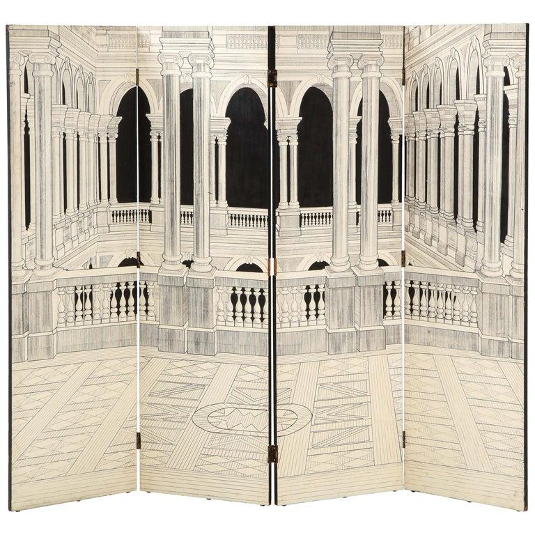 Painted Italian Interior Wood Screen