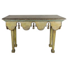 Bemalter Italienischer Jahrhundertmitte Tisch mit Quasten