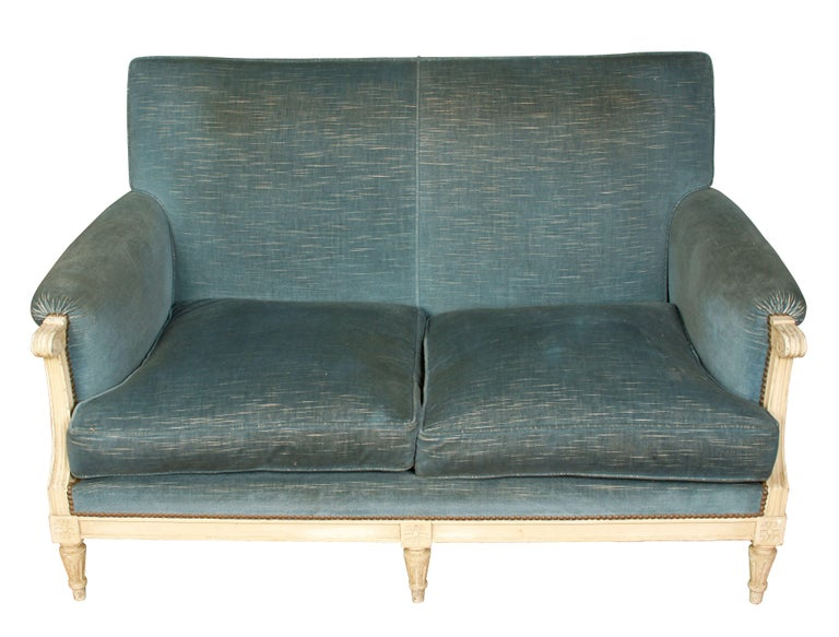20th Century Painted Jansen Style Settee, circa 1940 For Sale
