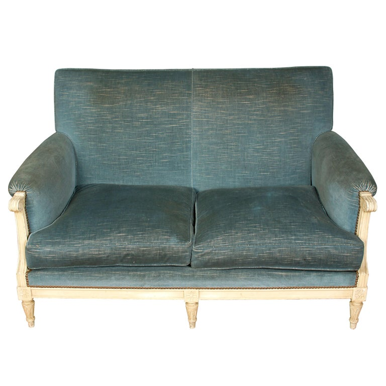 Painted Jansen Style Settee, circa 1940 For Sale