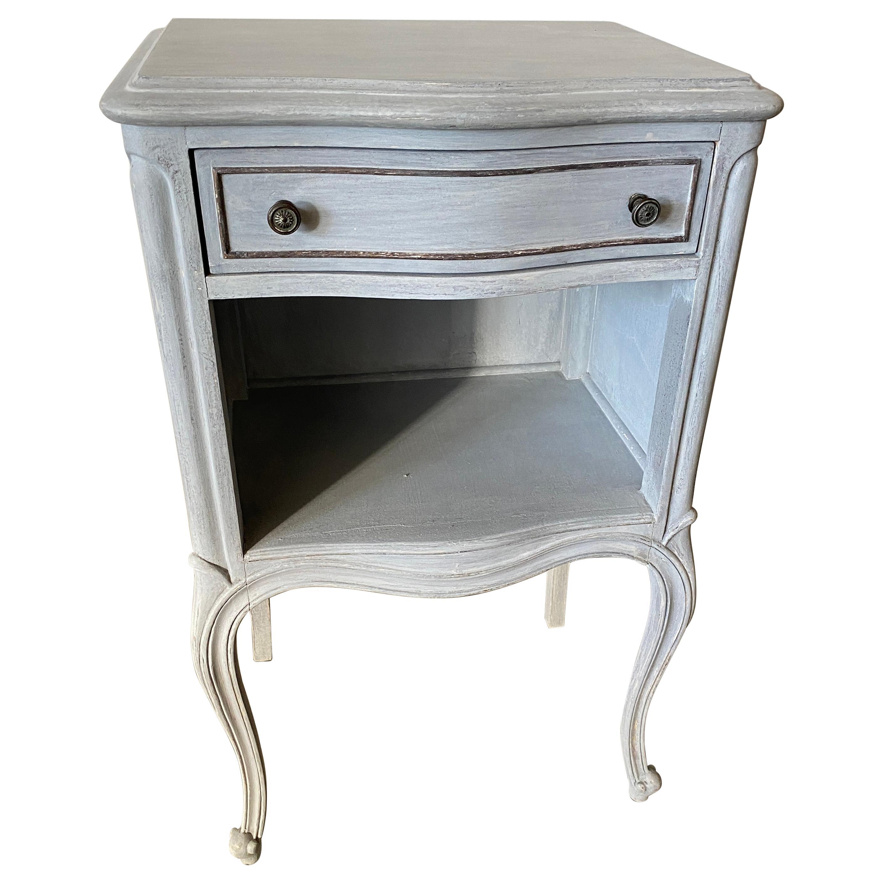 Painted Louis XVI Style Nightstand