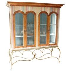 Painted Mahogany Curio Cabinet