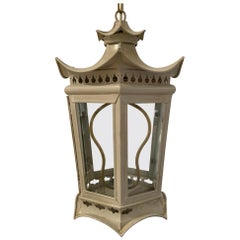 Painted Metal Pagoda Lantern
