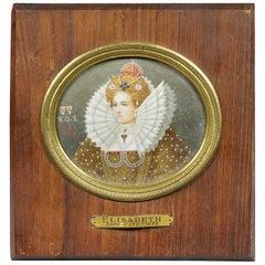 Painted Miniature of Queen Elizabeth