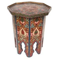 Painted Moroccan Taboret Cocktail Table