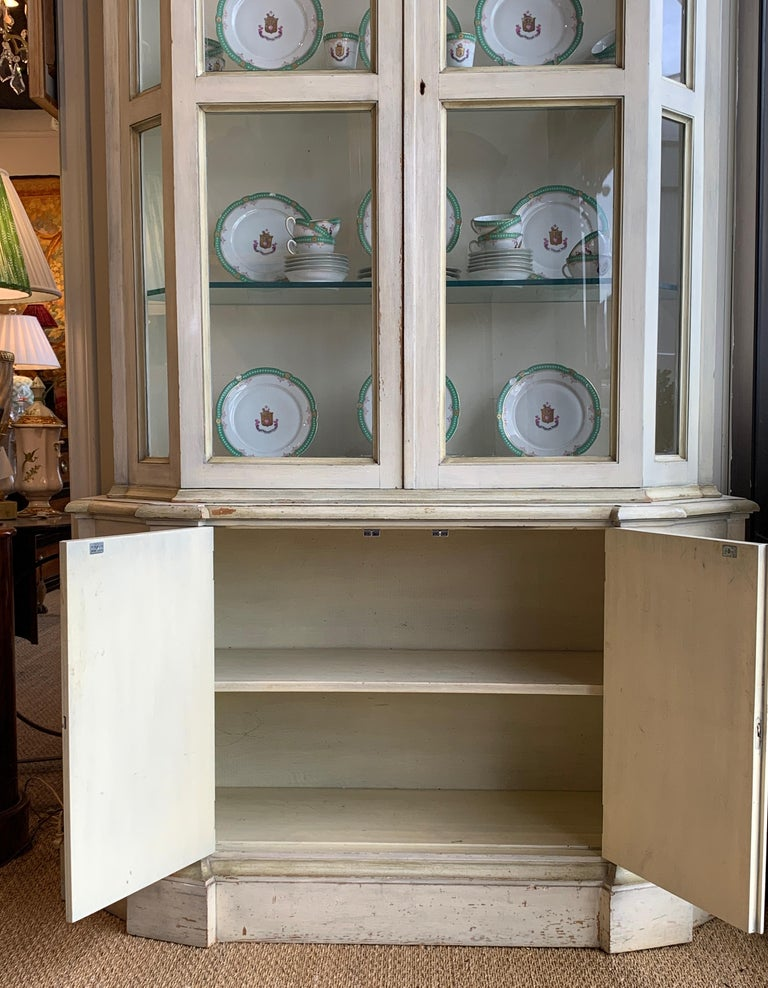 Painted Neoclassical Display Cabinet For Sale 1