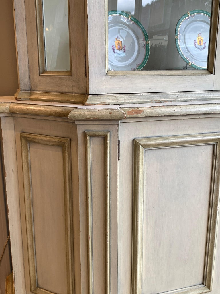 Painted Neoclassical Display Cabinet For Sale 2
