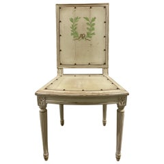 Painted Neoclassical Side or Desk Chair