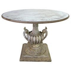 Painted Neoclassical Style Table with Antique Mirror Top