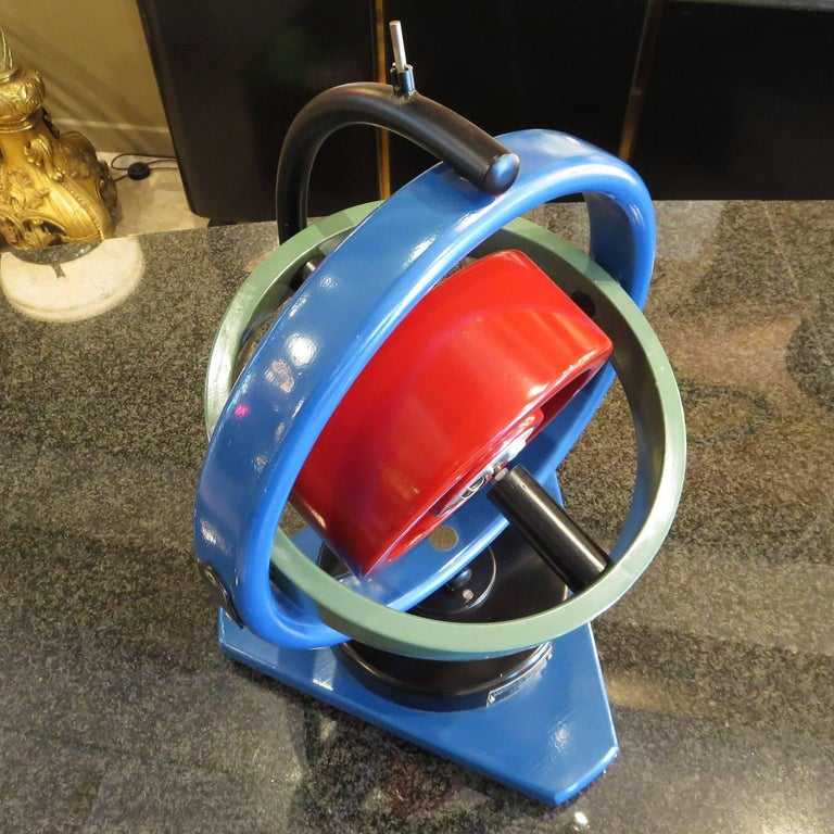 American Painted Oversize Gyroscope Classroom Display Model For Sale