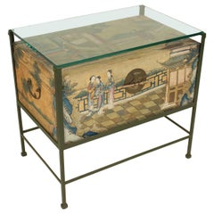 Painted Pigskin Trunk Occasional Table