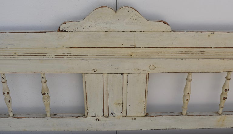 Painted Pine Bench or Settle For Sale 3