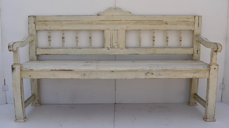 Country Painted Pine Bench or Settle For Sale