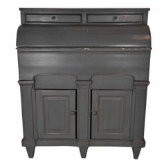 Painted Pine Cabinet with Storage Bins, circa 1900