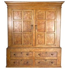 Painted Pine Country Cabinet, Faux Bois, 19th Century