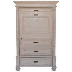 """Painted Pine """"Faux Secrétaire"""" One Door Armoire"""