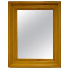 Painted Pine-Framed Wall Mirror