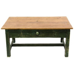Painted Pine One-Drawer Coffee Table