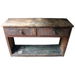 Painted Pine Potboard Dresser Base, circa 1830-1840