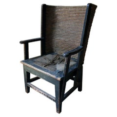 Painted Pine & Rush Child's Orkney Armchair by D.M. Kirkness & Liberty & Co 1910
