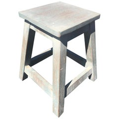 Painted Pine Stool or Small Table