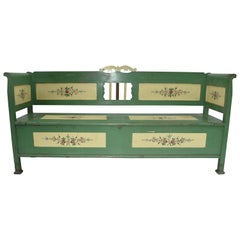 Painted Pine Storage Bench or Settle