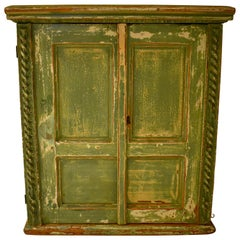 Painted Pine Two-Door Hanging Cupboard