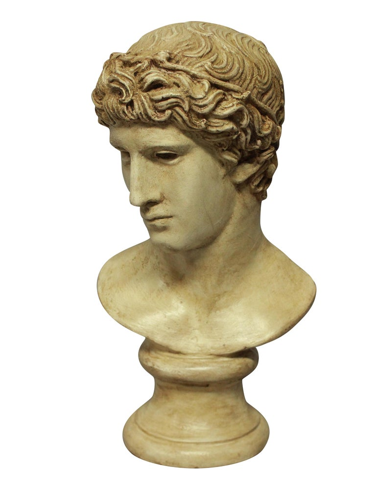 Painted Plaster Head of a Roman Youth In Good Condition In London, GB