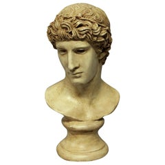 Painted Plaster Head of a Roman Youth