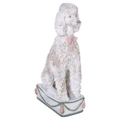 Painted Poodle Statue