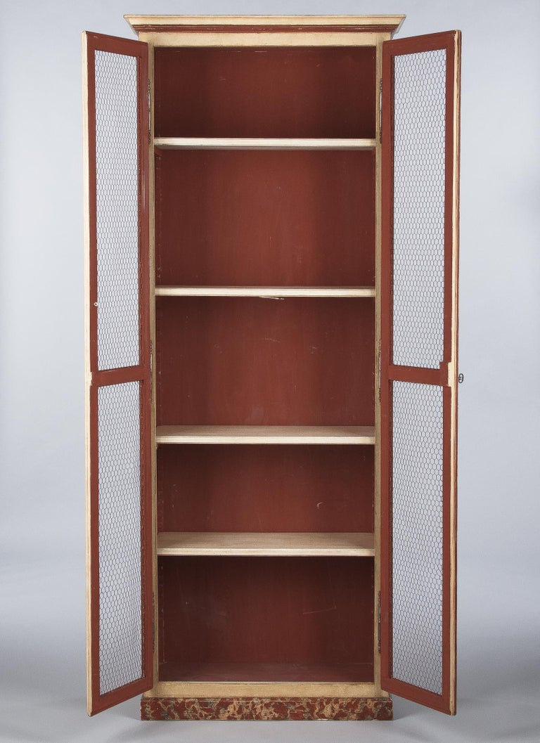 Painted Provencal Vitrine Bookcase, France Midcentury For Sale 3