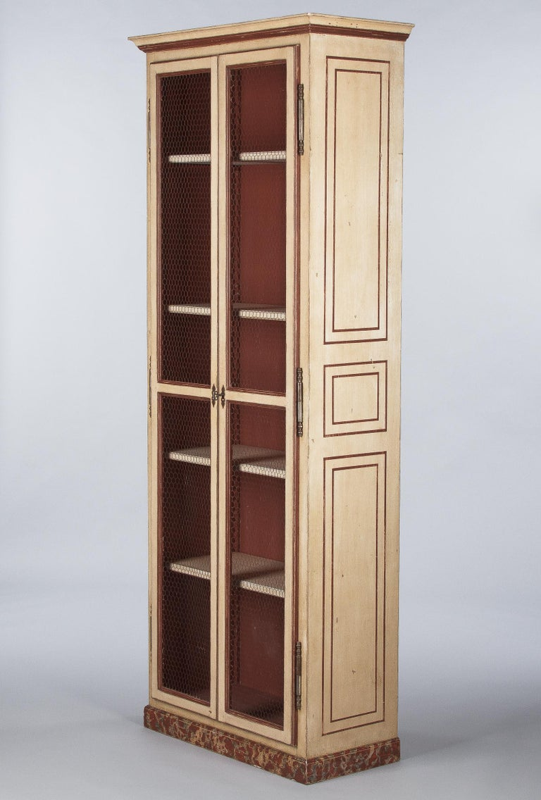 Painted Provencal Vitrine Bookcase, France Midcentury For Sale 5