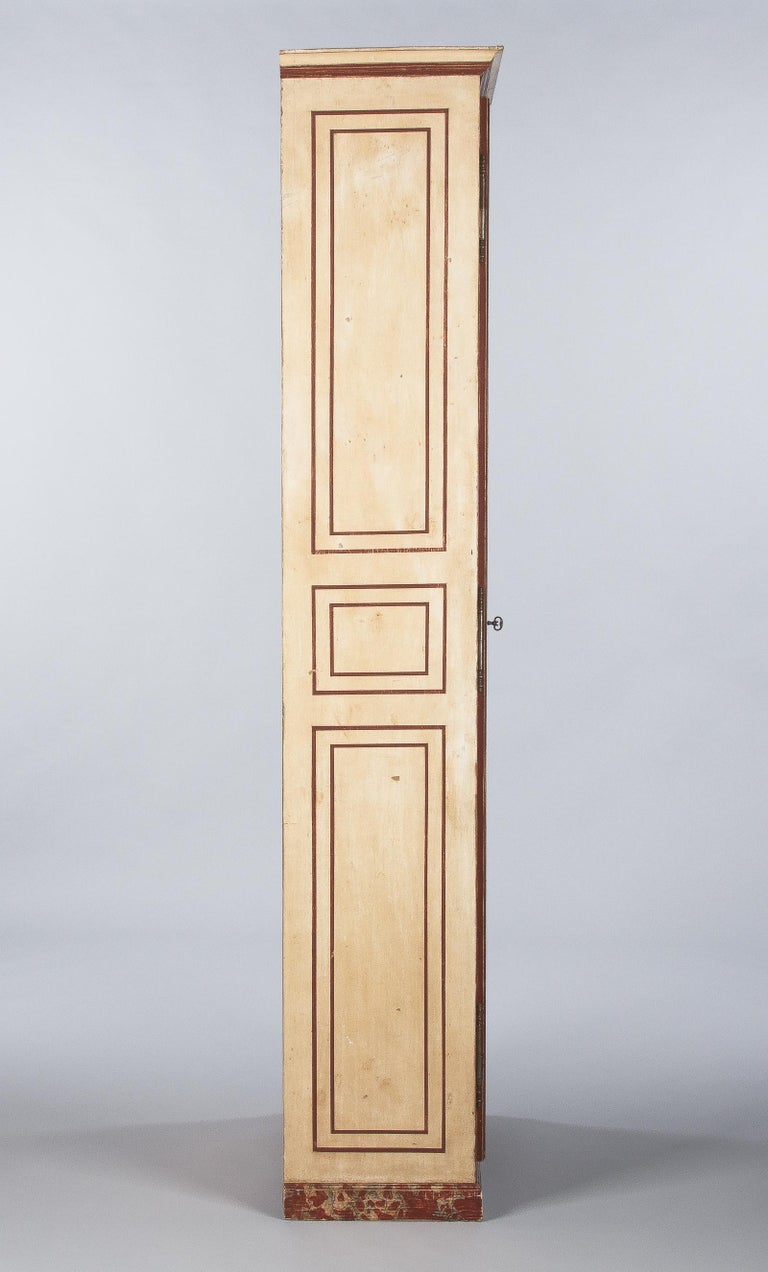 Painted Provencal Vitrine Bookcase, France Midcentury For Sale 7