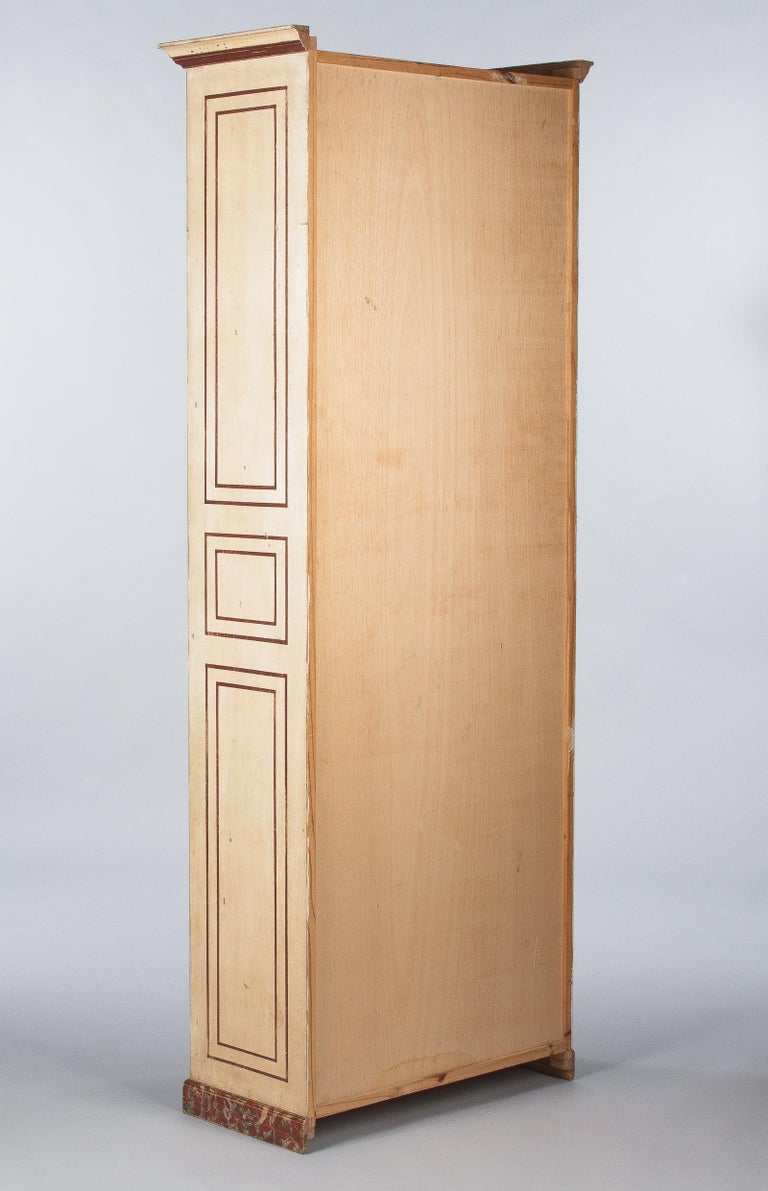 Painted Provencal Vitrine Bookcase, France Midcentury For Sale 11