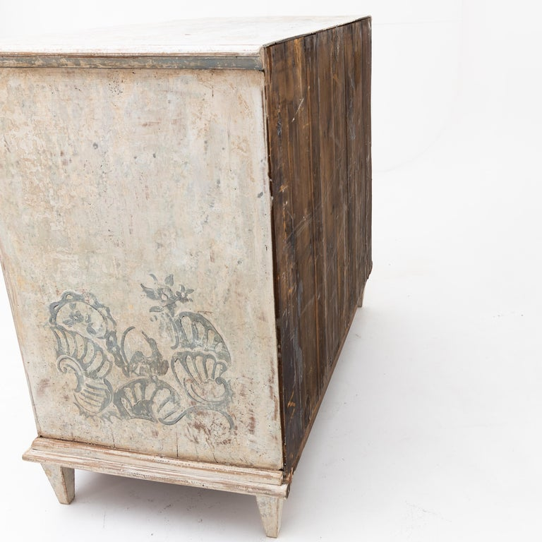 18th Century and Earlier Painted Provincial Baroque Chest of Drawers, 18th Century For Sale
