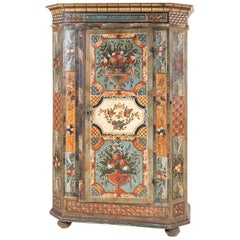 Painted Provincial Cupboard, Southern Germany, Dated 1808