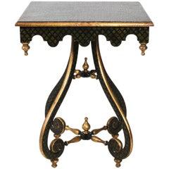 Painted Quatrefoil Side Table