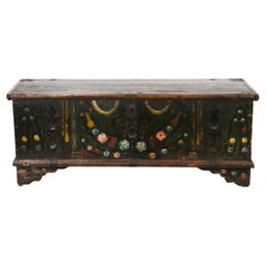 Painted Romanian Blanket Chest