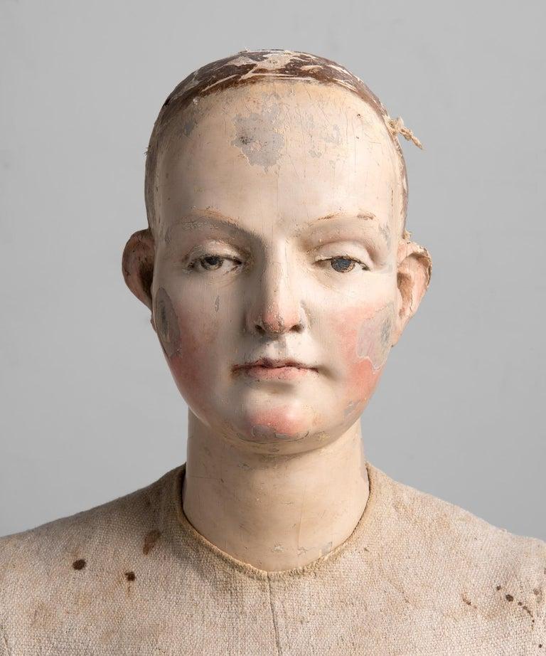 Spanish Painted Santos Figure, Spain 18th Century For Sale