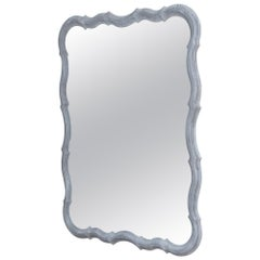 Painted Scalloped Wooden Wall Mirror Prototype