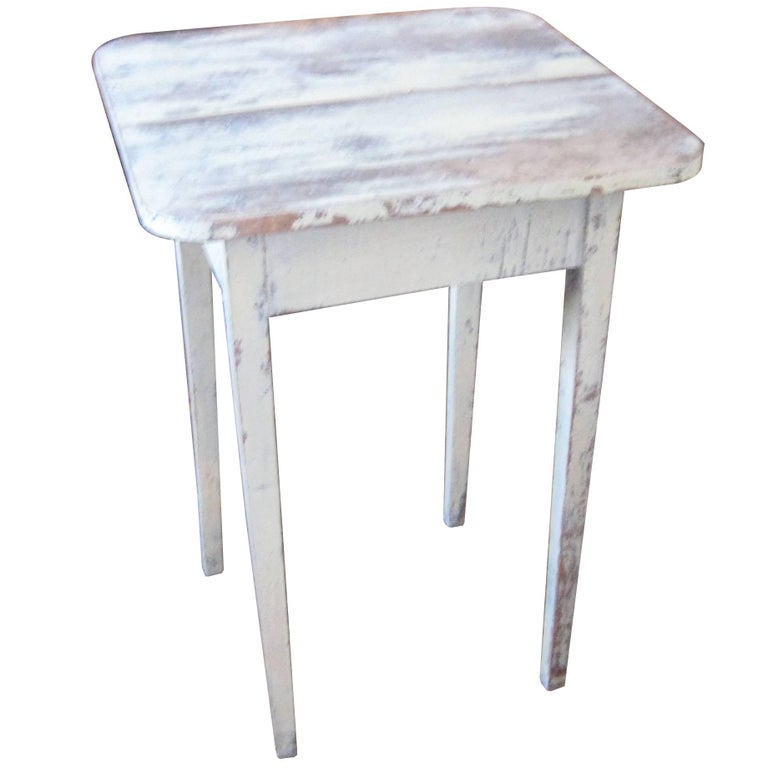 Painted Side Table For Sale