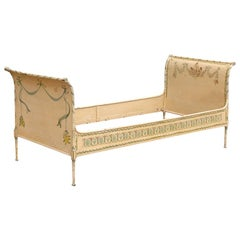 Painted Steel Daybed, Sleigh Style, French, 19th Century