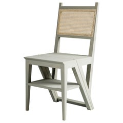 Painted Stepladder Chair Library Chair, Transforming Chair and Step Stool