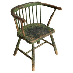 Painted Stick Chair, Wales 19th Century