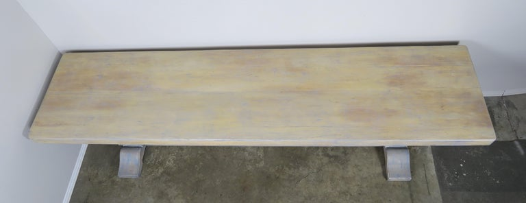 Painted Swedish Dining Table, circa 1940s For Sale 1