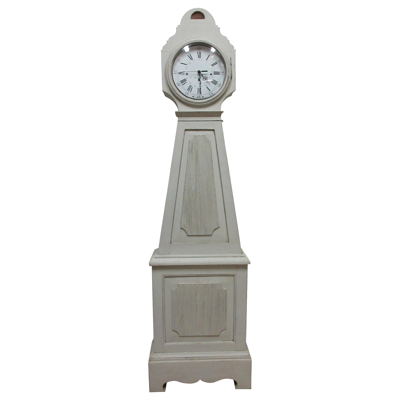 Painted Swedish Gustavian Mora Clock