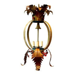 Painted Tole Open Lantern