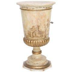 Painted Venetian Pot Stand Pedestal Table